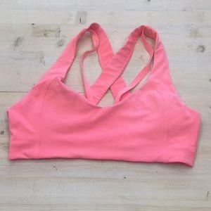 Lululemon crossback sports bra with pads sz 10